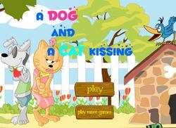 Поцелуй собаки и кошки
