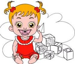 Малышка Хейзел раскраска