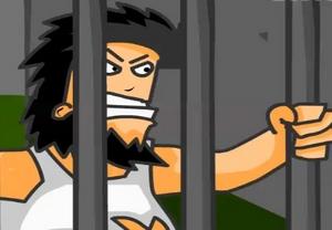 Бомж Хобо часть 2. Драка в тюрьме