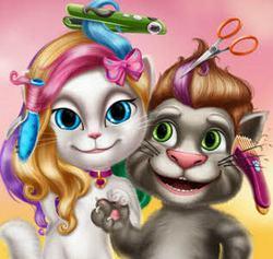 Прически Тома и Анжелы