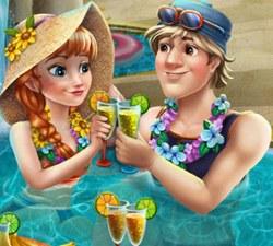Анна и Кристоф в Бассейне