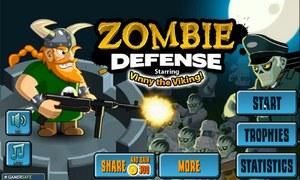 Викинг защищается от зомби.