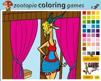 Зверополис Газель: Раскраска играть онлайн бесплатно ...